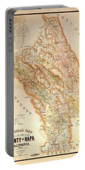 Napa Valley Map 1895 Portable Battery Charger