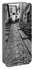 Narrow Street In Cusco Portable Battery Charger by Alexey Stiop