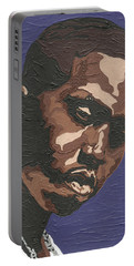 Portable Battery Charger featuring the painting Nas by Rachel Natalie Rawlins