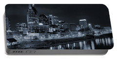 Nashville Skyline At Night Portable Battery Charger