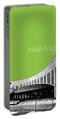 Nashville Skyline Country Music Hall Of Fame - Olive Portable Battery Charger