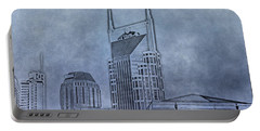 Nashville Skyline Sketch Portable Battery Charger by Dan Sproul