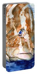 Nassau Grouper Portrait Portable Battery Charger