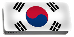 National Flag Of South Korea Authentic  Portable Battery Charger