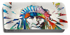 Native American Art - Chief - By Sharon Cummings Portable Battery Charger
