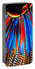Portable Battery Charger featuring the photograph Native American Ceremonial Headdress by Dora Sofia Caputo Photographic Art and Design
