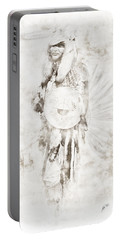 Portable Battery Charger featuring the digital art Native American by Erika Weber