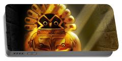 Native American Hawk Spirit Gold Idol Portable Battery Charger