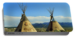 Native American Teepees  Portable Battery Charger