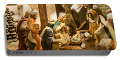 Portable Battery Charger featuring the photograph Nativity Set by Alex Grichenko