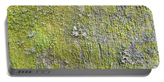 Natural Abstract 1 Old Fence With Moss Portable Battery Charger