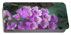 Natural Bouquet Bunch Of Spiritul Purple Flowers Portable Battery Charger by Navin Joshi