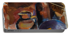 Portable Battery Charger featuring the painting Still Life Sepia by Elise Palmigiani