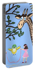 Portable Battery Charger featuring the painting Nature's Playground by Kathleen Sartoris