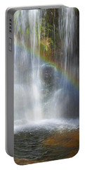 Portable Battery Charger featuring the photograph Natures Rainbow Falls by Jerry Cowart