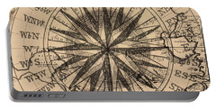 Portable Battery Charger featuring the painting Nautical II by James Christopher Hill