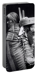 Navaho Woman Carrying A Papoose On Her Back Portable Battery Charger