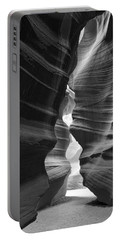 Antelope Canyon Black And White Portable Battery Charger