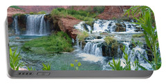 Portable Battery Charger featuring the photograph Navajo Falls by Alan Socolik