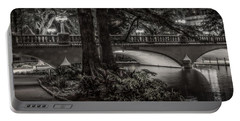 Portable Battery Charger featuring the photograph Navarro Street Bridge At Night by Steven Sparks