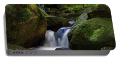 Portable Battery Charger featuring the photograph near the Brocken, Harz by Andreas Levi