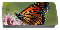 Portable Battery Charger featuring the photograph Nectaring Monarch Butterfly by Debbie Oppermann