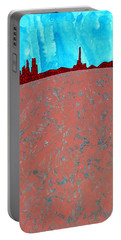 Needles And Dunes Original Painting Portable Battery Charger