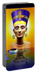 Nefertiti  The  Beautiful Portable Battery Charger by Hartmut Jager