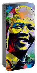 Nelson Mandela Madiba Portable Battery Charger by Anthony Mwangi
