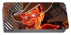 Neon Cowboy Of  Las Vegas Portable Battery Charger