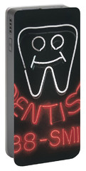 Neon Smile Portable Battery Charger by Caitlyn  Grasso
