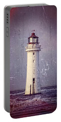 New Brighton Lighthouse Portable Battery Charger by Spikey Mouse Photography