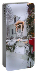New England Christmas Portable Battery Charger by Elizabeth Dow