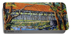 New England Covered Bridge By Prankearts Portable Battery Charger