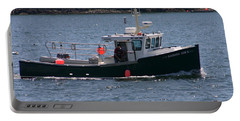 Portable Battery Charger featuring the photograph New England Fishing Boat by Denyse Duhaime