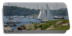 Portable Battery Charger featuring the photograph New England Seascape by Denyse Duhaime