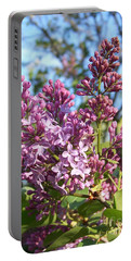 Purple Lilac Portable Battery Charger by Eunice Miller