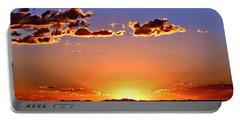 Portable Battery Charger featuring the photograph New Mexico Sunset Glow by Barbara Chichester