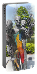 Jazz Music Sculpture In New Orleans 28 Portable Battery Charger