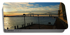 Portable Battery Charger featuring the photograph New Orleans Bridge by Erika Weber