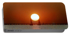 New Orleans Sailing Sun On Lake Pontchartrain Portable Battery Charger by Michael Hoard