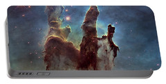 New Pillars Of Creation Hd Square Portable Battery Charger by Adam Romanowicz