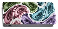 Portable Battery Charger featuring the mixed media New Swirls by Ann Calvo