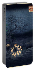 New Years Eve Foxfires At The Changing Tree Portable Battery Charger