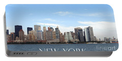 Portable Battery Charger featuring the photograph New York As I Saw It In 2008 by Ausra Huntington nee Paulauskaite