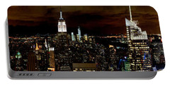 New York At Night Panorama Portable Battery Charger