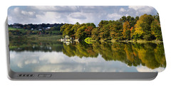 Portable Battery Charger featuring the photograph New York Cincinnatus Lake by Christina Rollo