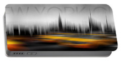 New York City Cabs Abstract Portable Battery Charger
