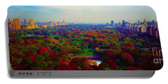 New York City Central Park South Portable Battery Charger by Tom Jelen