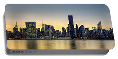New York City Dusk Colors Portable Battery Charger